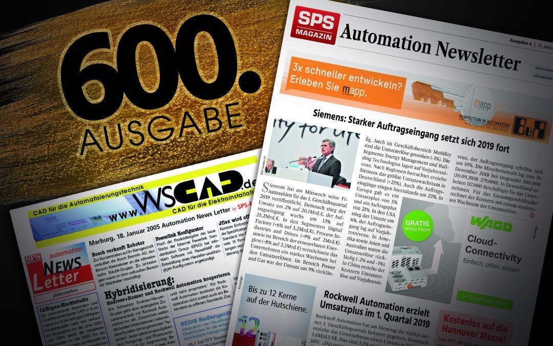 Automation Newsletter feiert Jubiläum