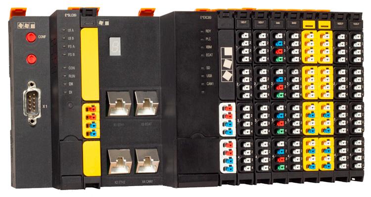 Das modulare Automatisierungssystem von Eckelmann integriert Sicherheitssteuerung, Controller und I/O-System auf Basis von Ethercat und FSoE.