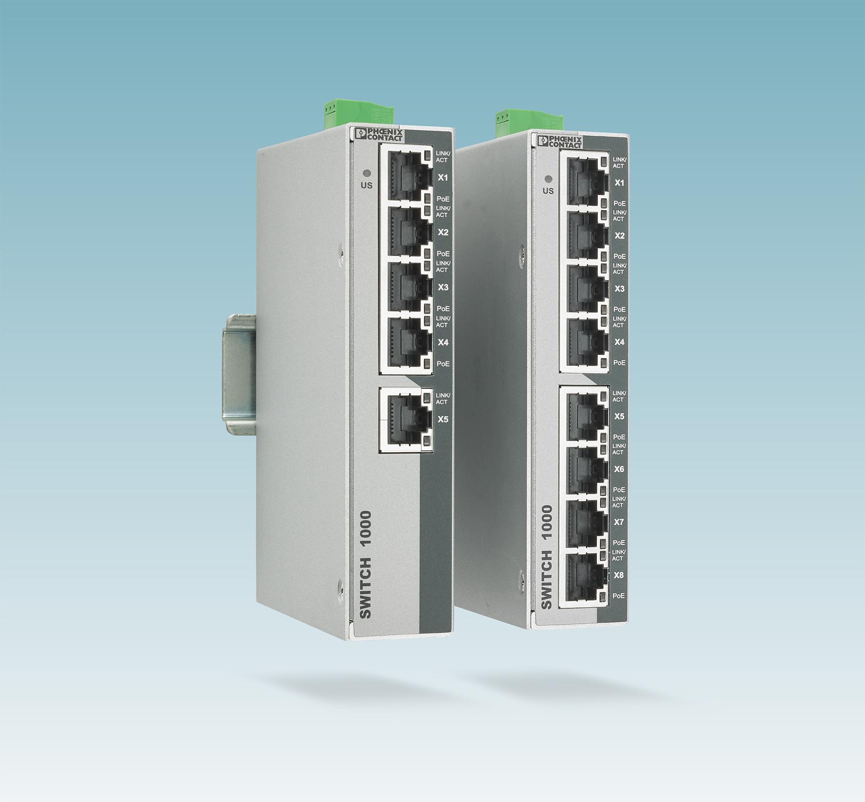 Unmanaged PoE-Switche mit Isolierung