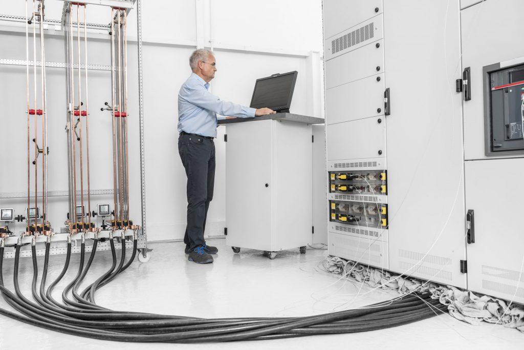 Moderne Messtechnik bei Sedotec ermöglicht Erwärmungsprüfungen zum Bauartnachweis nach DIN EN61439.