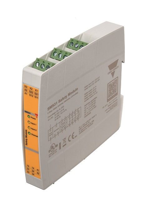 Das Sicherheitsmodul SMS31 ist eines von fünf neuen Modul-Typen in 17,5 mm Baubreite.