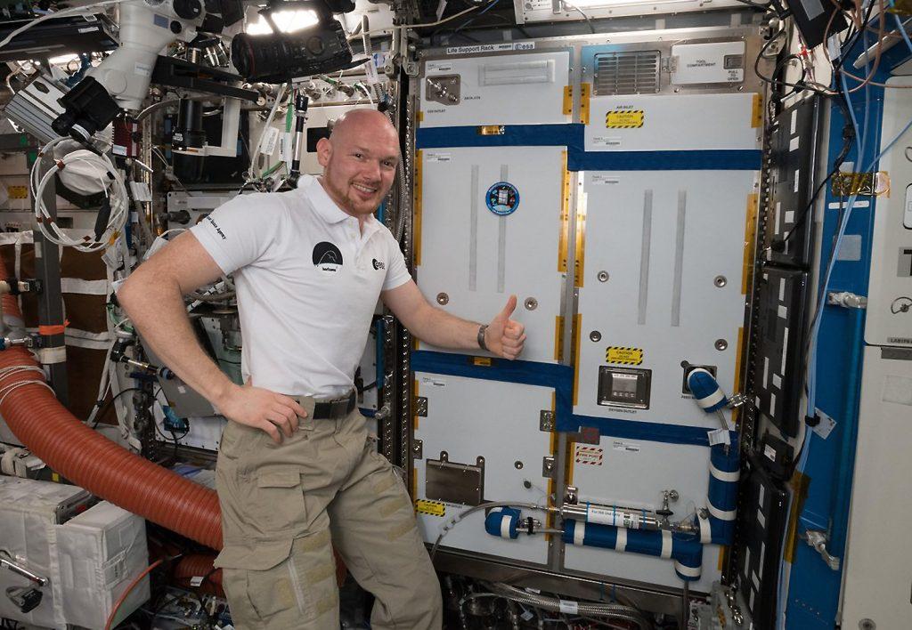 Kommandant Alexander Gerst installierte am 24. Oktober 2018 das ACLS-Modul auf der ISS.