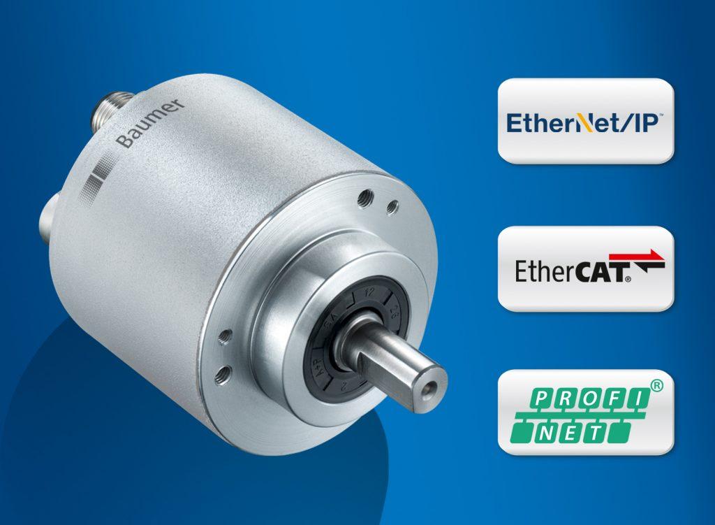 Drehgeber der Baureihen EAM580/360 sind auf Zuverlässigkeit und Präzision ausgelegt.