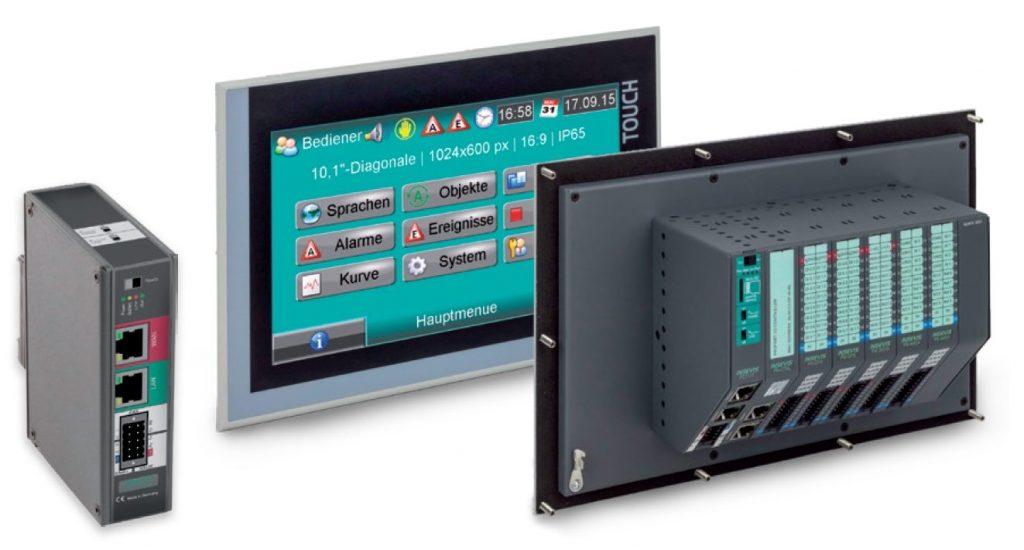 S7-Panel mit integrierter S7-CPU und E/A-Ebene und externen S7-IIoT-Gateway