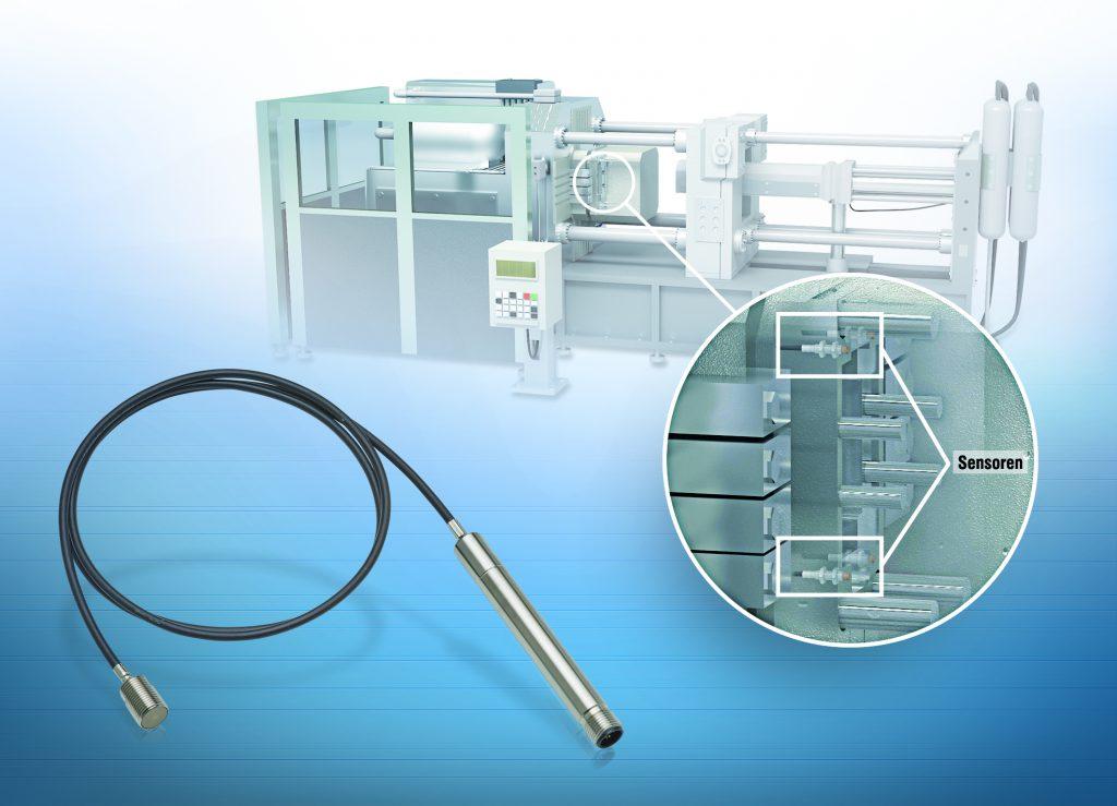 In der Regel werden bei der Überwachung der Werkzeugatmung drei bis vier Wirbelstromsysteme angebracht, welche die Ausdehnung bzw. die Spaltöffnung des Werkzeuges mikrometergenau bestimmen.