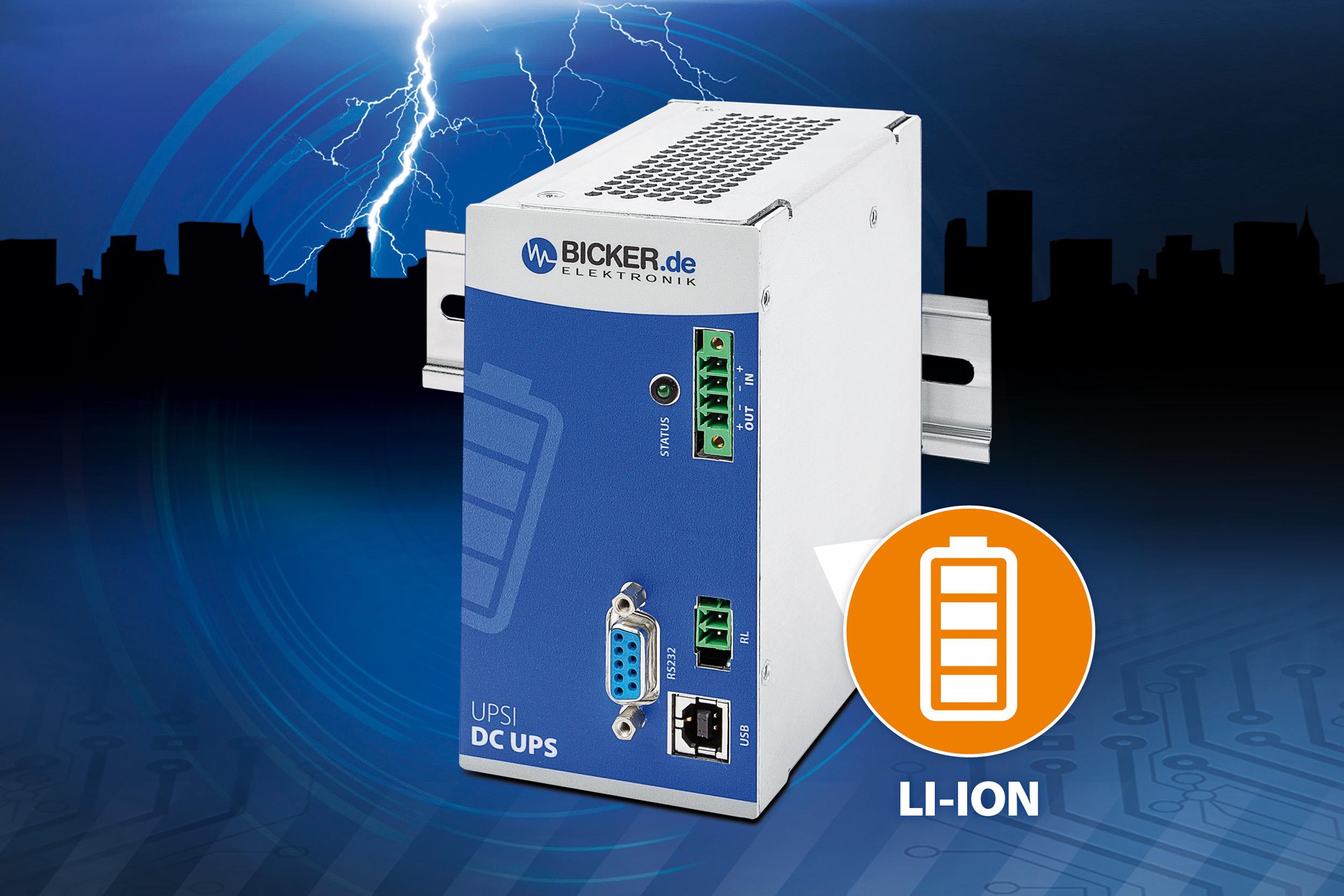 DC-USV mit Lithium-Ionen-Batterie