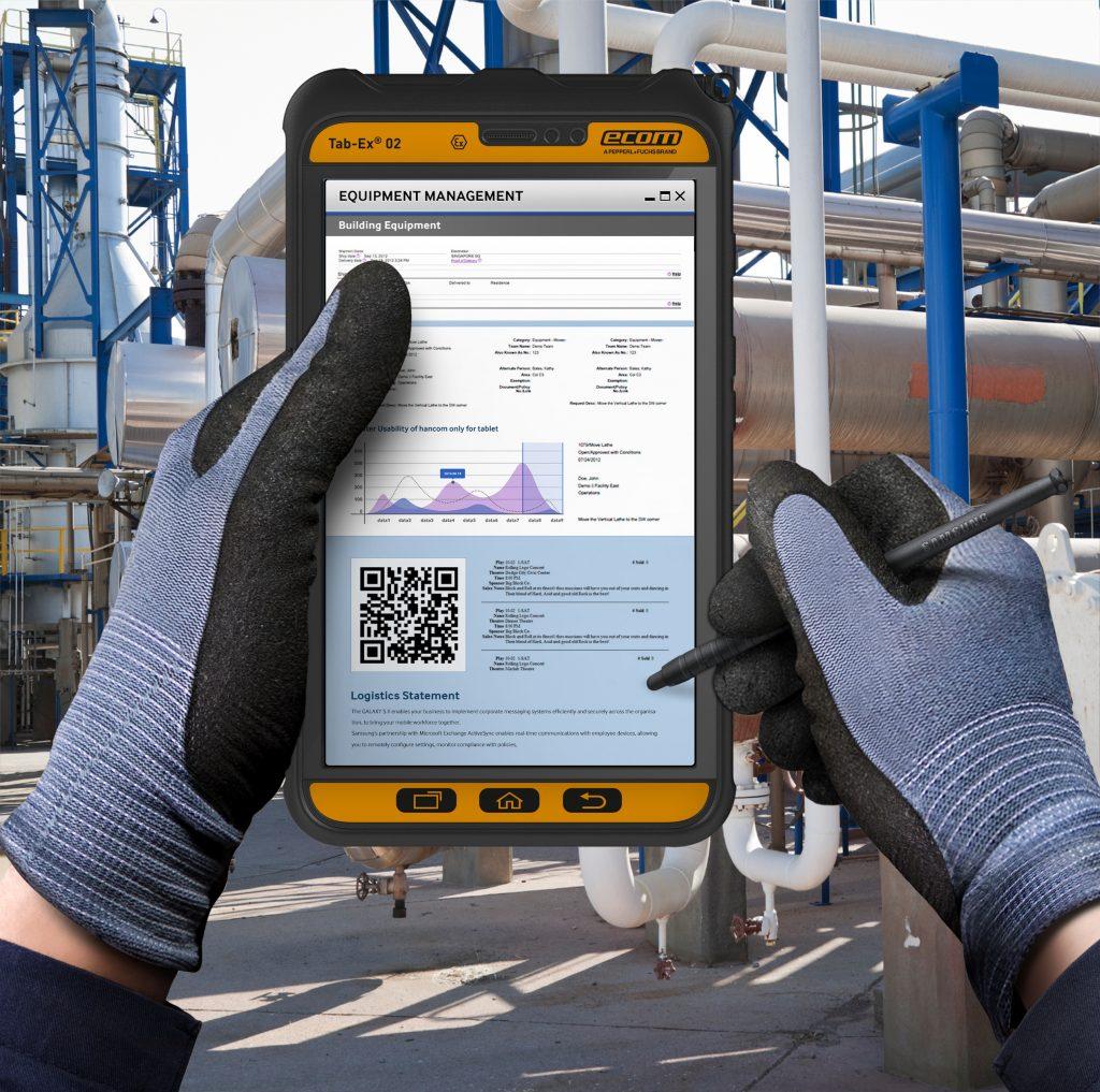 Das Tab-Ex 02 vereinfacht den Datenaustausch mit SCADA/DCS-Systemen und Warenwirtschaftssystemen wie SAP oder IBM Maximo.