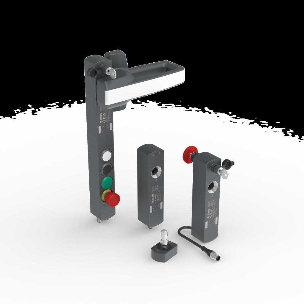 Die Sicherheitsschalter der Serie NS eignen sich für Standardanwendungen an Maschinen und Industrieanlagen und bieten eine Haltekraft von 2.100N.