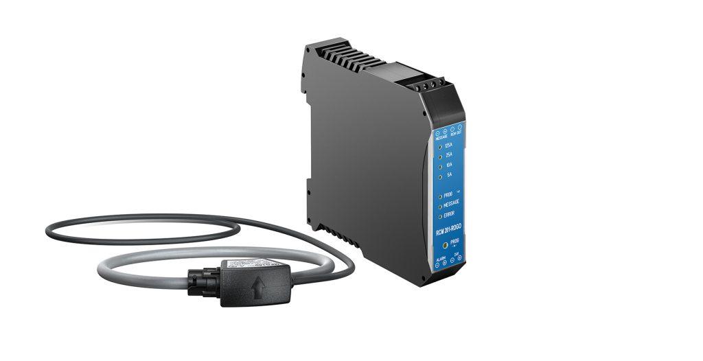 Das kompakte Differenzstromüberwachungsgerät RCM 201-ROGO für Differenzströme des Typs A eignet sich besonders für Stromschienensysteme und ausdehnende Leitungen.