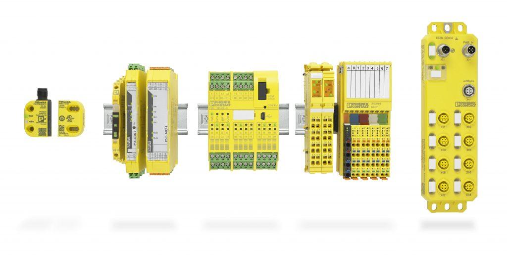 Das umfassende Safety-Portfolio von Phoenix Contact ist um eine feldmontierbare Komponente in Schutzart IP67 (rechts) ergänzt worden.