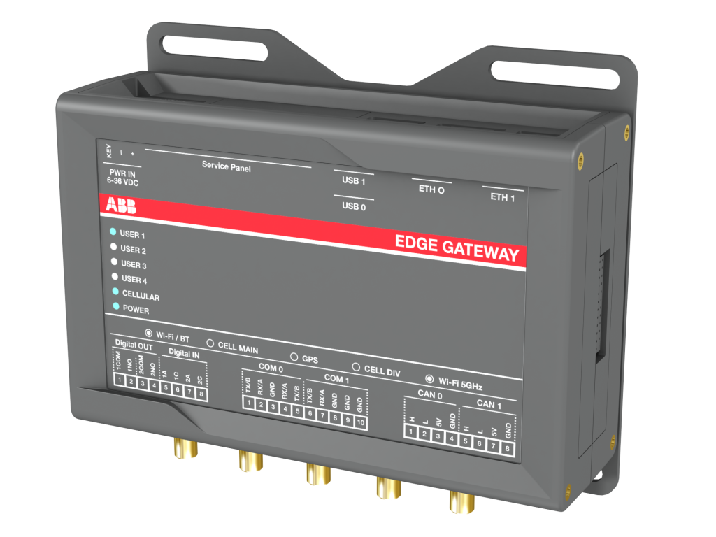 Das neue Edge-Gateway sammelt Daten von Feldgeräten sowie Umgebungsparameter und speist sie in die Schnittstelle des ABB Ability Energy and Asset Manager ein.