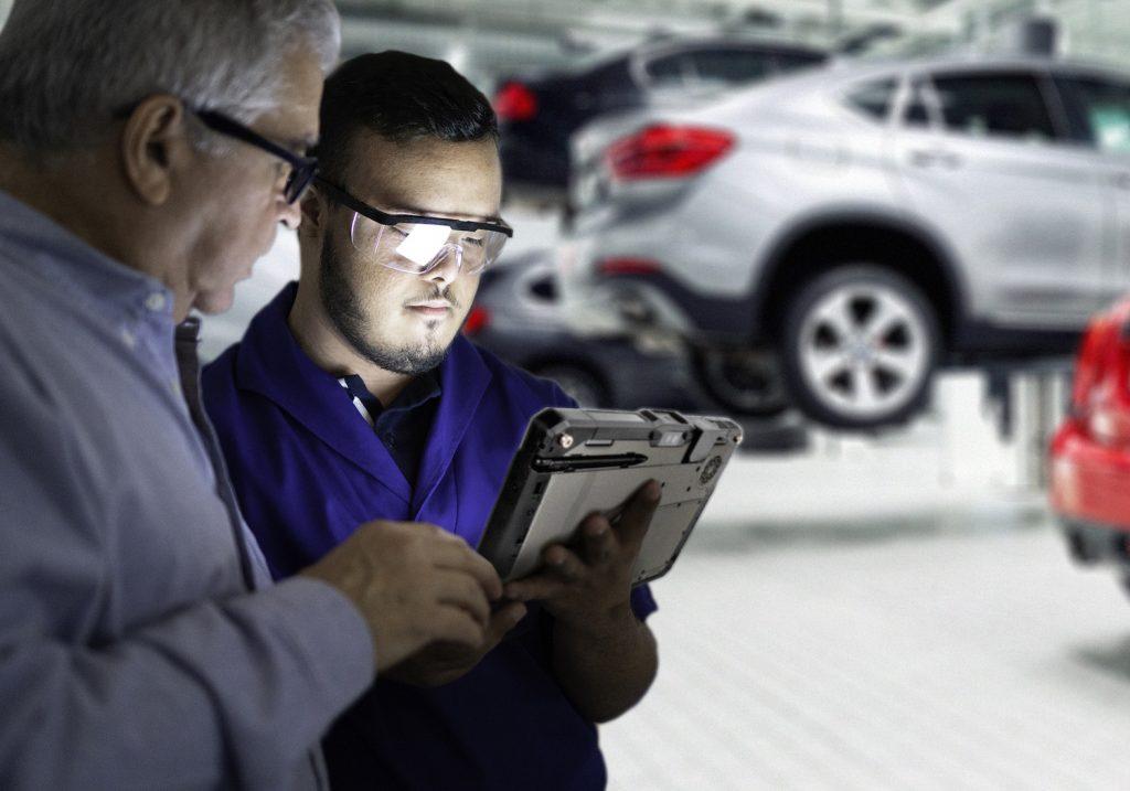 Die robusten Computerlösungen von Getac sind auf die Anforderungen im Automobilbau ausgerichtet.