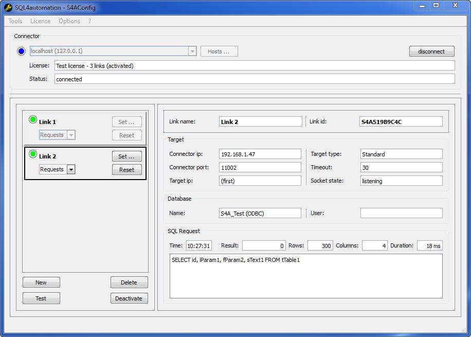 Datenbankanbindung via SQL