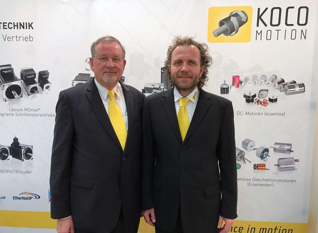 Gemeinsam zum Kompetenzzentrum: Gerhard Kocherscheidt von Koco Motion (l.) und Thomas Vogt von Adlos
