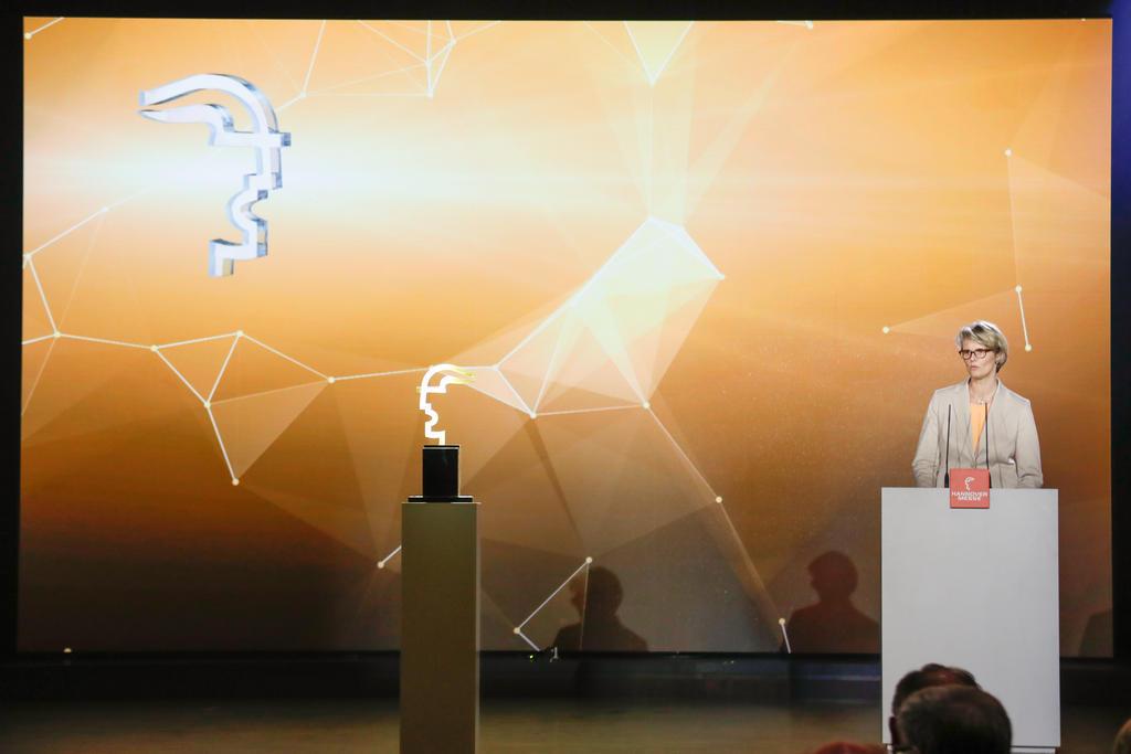 Eröffnungsfeier der HANNOVER MESSE, Sonntag den 22. April 2018, Hannover Congress Centrum  Verleihung des HERMES AWARD, Internationaler Technologiepreis der HANNOVER MESSE, Anja Karliczek, Bundesministerin für Bildung und Forschung