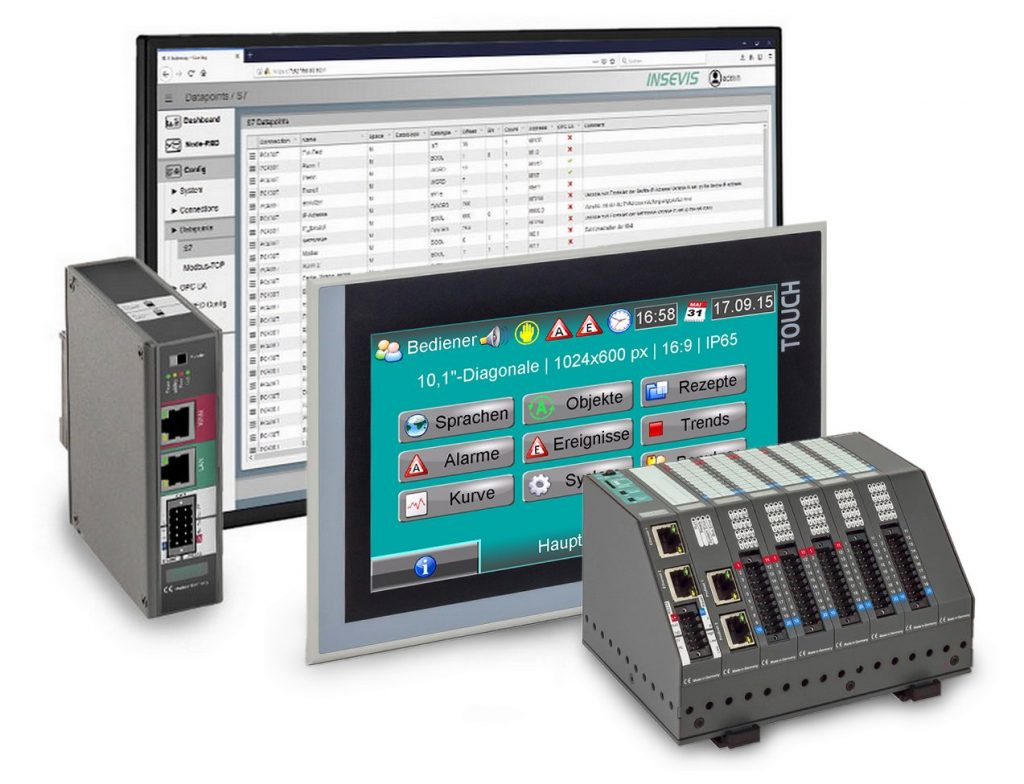 S7-HMIs, S7-SPSen, S7-IIoT-Gateway und Remote-Tools von Insevis