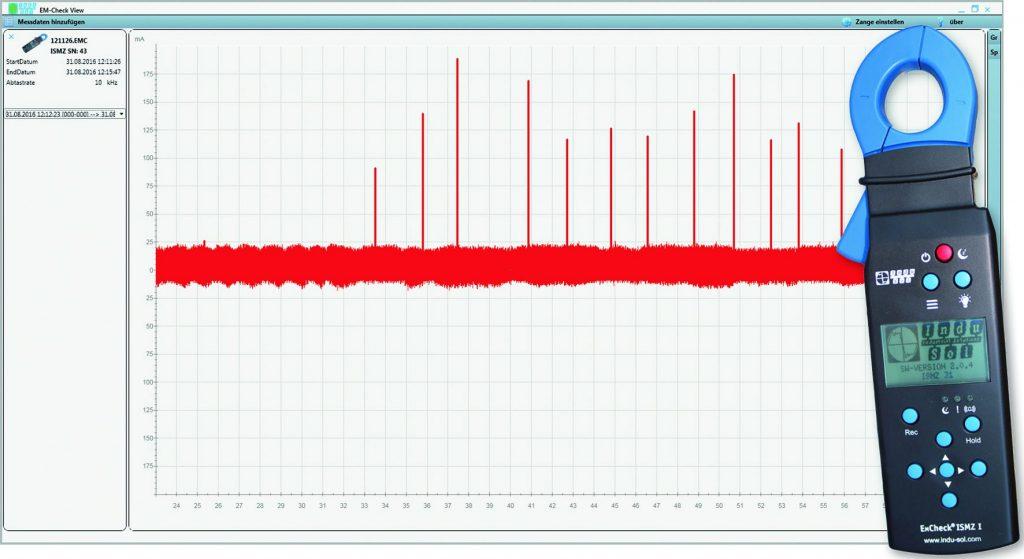 Die kostenlose Software EMCheck View bereitet die Daten anschaulich auf und ermöglicht so eine schnelle und vor allem zielgerichtete Diagnose der Störungen.