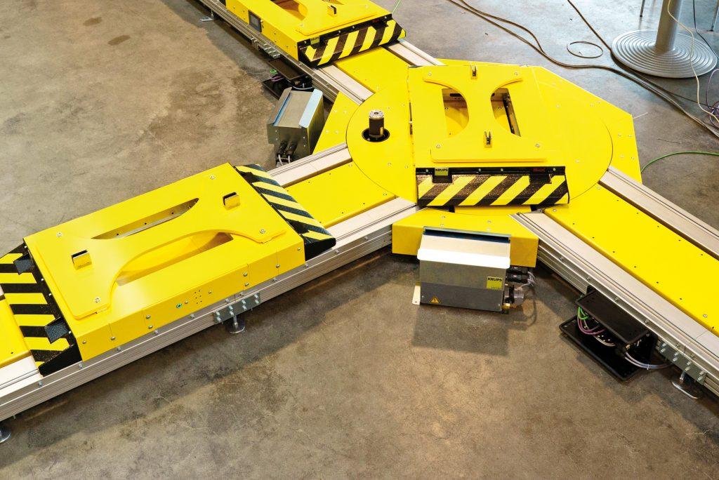 Das e-Cart-System kommuniziert an den Stoppern und anderen Funktionsmodulen mit den Wagen über NFC.