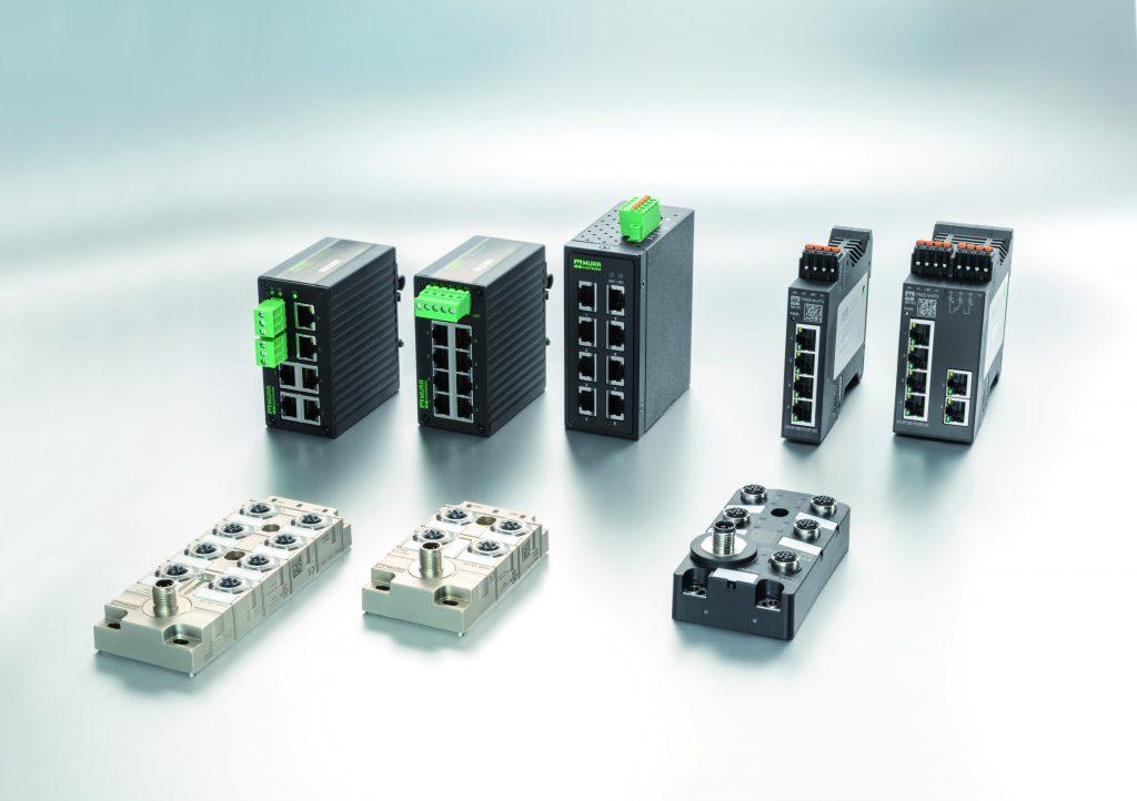Zentrale Schnittstelle: Leistungsstarke Switche von Murrelektronik nehmen eine wichtige Zentralfunktion in Profinet-Installationen ein. Sie ermöglichen neben Linienstrukturen auch Stern-, Baum und Ringaufbauten.