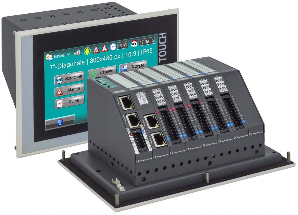 Die Insevis-Touchpanels mit integrierter S7-CPU und modularer Kommunikations- bzw. I/O-Ebene sind kompakte Kombigeräte für die S7-Welt.