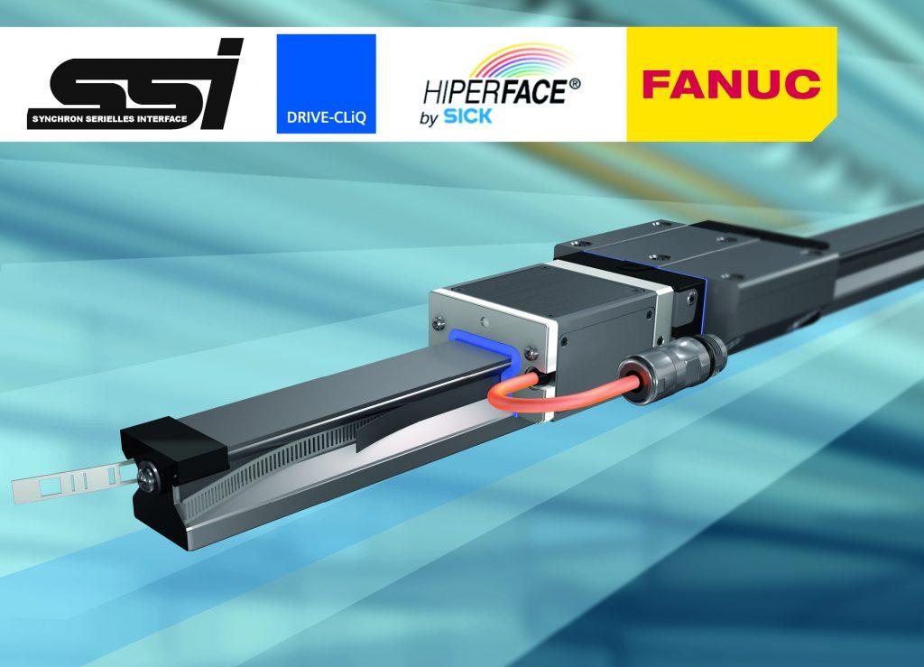 Die integrierte Maßverkörperung ist mit einer Genauigkeit von bis zu +/- 3µm/m verfügbar.