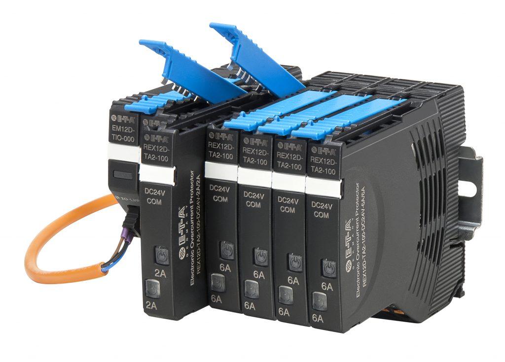 Das Stromverteilungs- und Absicherungssystem Rex12D mit dem EM12D-TIO