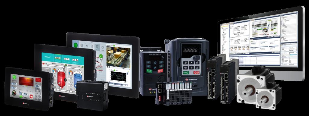 Unitronics Produkt-Portfolio: SPS+HMI+IO+VFD+Servo