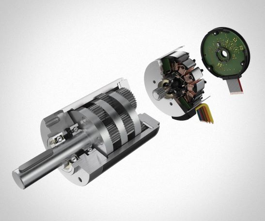 Flachmotoren mit integriertem Encoder und Speed Controller