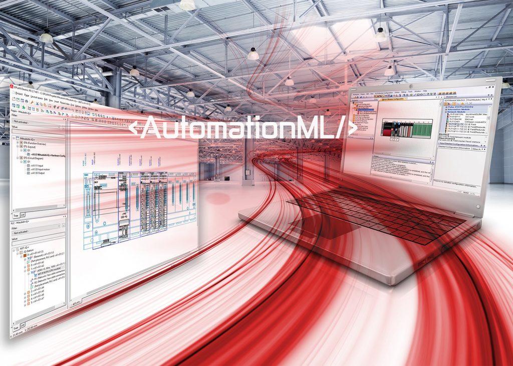 Für eine schnellere Time-to-Market hat Mitsubishi Electric die AutomationML-Schnittstelle übernommen, um den nahtlosen, gegenseitigen Datenfluss zwischen iQ Works und anderen Software-Tools, die den offenen Standard unterstützen, zu ermöglichen.