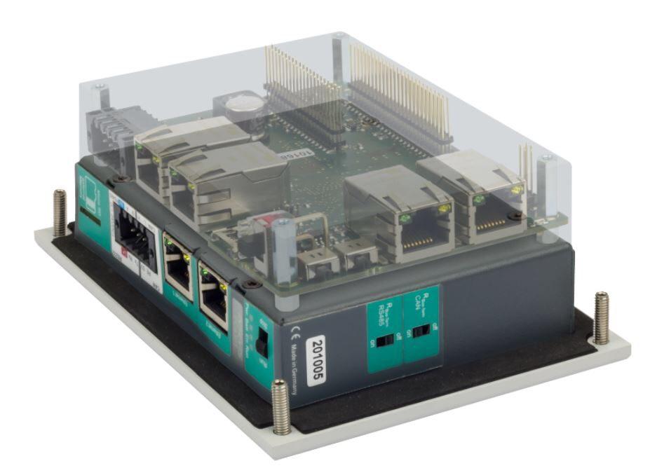 Schematische Darstellung einer möglichen OEM-Platine für die S7-Panel-SPS PC430T-Slim