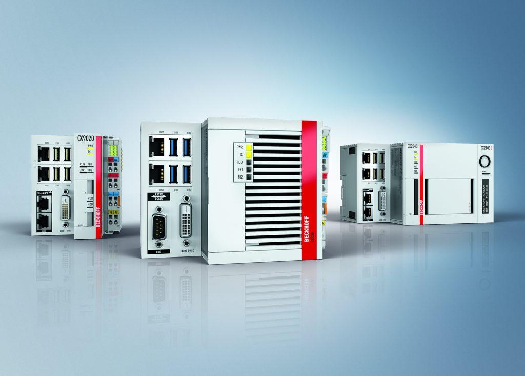 Die neuen Embedded-PCs der CX52xx-Reihe (Mitte) ergänzen das Portfolio um Geräte mit der neuesten Intel-Atom-Prozessorgeneration.