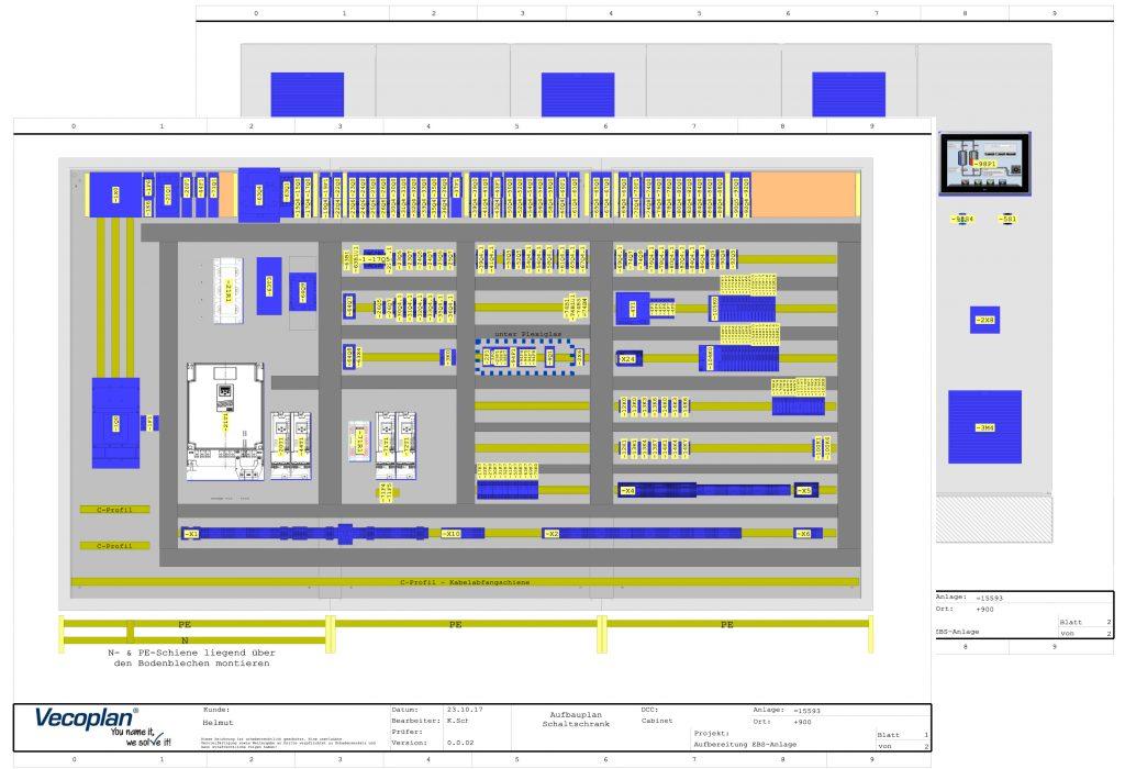Die Schaltschrankaufbauten erfolgen aus den Stromlaufplänen mithilfe des Moduls Cabinet Engineering aus der WSCAD Suite.
