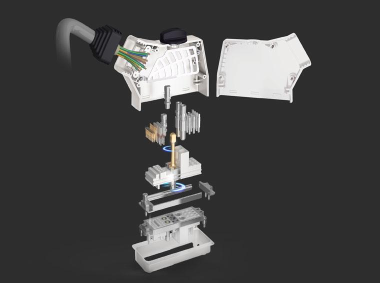 Modularer Steckverbinder in Kompaktausführung